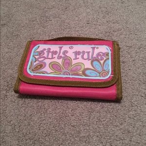 New Pink Kids Girls  Rule Fold Down Lunch  Bag